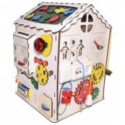 Iwoodplay Деревянная игрушка Iwoodplay Развивающий домик большой с электрикой (блоком светоиндикации)