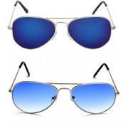 Magjons Fashion Combo Of Blue And Dark blue Lens Aviator Sunglasses