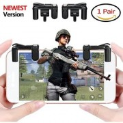 Tech Gear Mobile Game Trigger Shooter Sensitive Shot and Aim Buttons L1R1 Shooter Controller Handle for PUBG / Fortnite