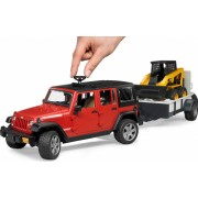 JEEP WRANGLER UNLIMITED RUBICON CU REMORCA+MINI INCARCATOR CAT - BRUDER