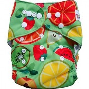 Tinytots Bamboo All In One Reusable Washable One Size Cloth Diaper - Fruits