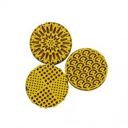 Asian Hobby Crafts ASNHC1749_A Designer Foam Stamps - Round (Small, Pack of 3)