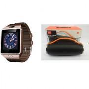 Mirza DZ09 Smart Watch and Mini Xtreme K5 + Bluetooth Speaker for LG OPTIMUS G (DZ09 Smart Watch With 4G Sim Card Memory Card| Mini Xtreme K5 + Bluetooth Speaker)