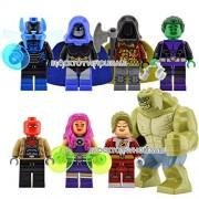 8pcs Minifigures Killer Croc Saturn Girl Building Blocks Toy