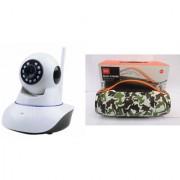 Zemini Wifi CCTV Camera and Mini Xtreme K5 Plus Bluetooth Speaker for LG OPTIMUS L7 II(Wifi CCTV Camera with night vision |Mini Xtreme K5 + Bluetooth Speaker)