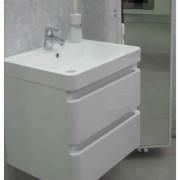 Mobilier suspendat cu lavoar din marmura compozita Kuma Hanna 60 x 48 cm -138209