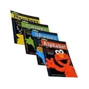 Sesame Street Educational 4 Workbook Set ~ Wipe Clean Workbooks (Alphabet with Elmo, Shapes with Coo