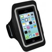 Colorfone PREMIUM Sport Armband met sleutelvak en klitteband voor de Apple iPhone 7/8 Plus Zwart
