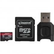 Kingston Canvas React Plus Card MicroSD 128GB UHS-II + Adaptor + Cititor de Carduri MobileLite Plus