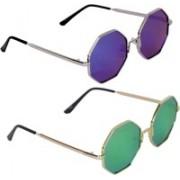 LOPEZ Retro Square Sunglasses(Blue)