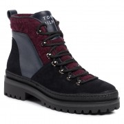 Туристически oбувки TOMMY HILFIGER - Cosy Outdoor Bottie FW0FW04349 Midnight CKI