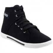 Welldone Black Lace-up Canvas Air Mix Sneakers/Casual Shoes For Men
