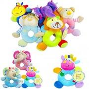 Nice NEW Kids Baby Animal Hand bell Stroller Bells Developmental Soft Toy
