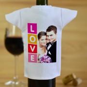 LOVE fényképes borosüveg póló