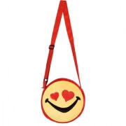 SmileyWorld Smiling Face Expression With Heart Eyes Yellow Sling Bag 8 Inch by Ultra