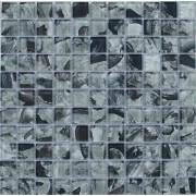 Maxwhite JSM-CH016 Mozaika skleněná šedá černá 29,7x29,7cm sklo