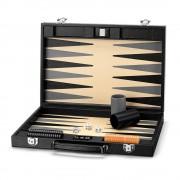 Backgammon Set 17 Jet Black Lizard