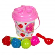 Set galetusa si forme nisip Ice Cream, 5 piese, Multicolor