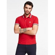 Guess Polo Driehoeklogo - Rood - Size: Extra Large