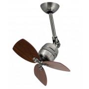 Ventilator pentru plafon Vaxcel eFan, Diametru 46 cm, Finisaj zinc antic, Elice nuanta nuc, Control pe perete