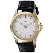 Timex Quartz White Dial Mens Watch-TW000X102