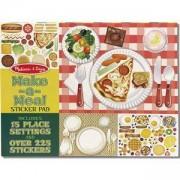 Занимателен детски комплект - Направи си ястие със стикери - 14193 - Melissa and Doug, 000772141932