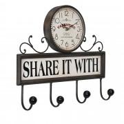 Стенен часовник [en.casa]® със закачалки - с аналогови стрелки - 40 x 8 x 34 см.- цветен