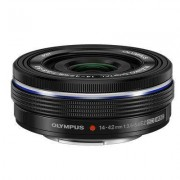 Olympus M.Zuiko Digital ED Obiettivo 14-42mm 1:3.5-5.6 EZ, Micro Quattro Terzi, per Fotocamere OM-D e PEN, Nero