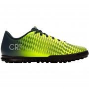 Zapatos Fútbol Niño Nike Jr MercurialX Vortex 3 CR7 TF-Negro Con Amarillo