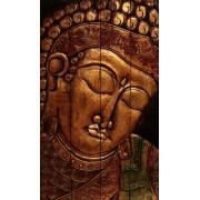 Faragott Buddha fej