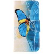 Book Case Huawei Mate 20 Lite Hoesje - Blauwe Vlinder