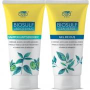 Pachet PROMO Sampon si Gel Dus cu Biosulf, bicarbonat si extracte naturale din plante, 200+200 ml