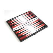 Összehajtható mágneses backgammon, műanyag, 20x20x1cm - 1770