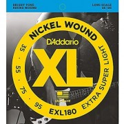 D'Addario EXL180 Nickel Wound Bass Guitar Strings Extra Super Light 35-95 Long Scale