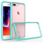 Funda Case Para Iphone 8 Plus / Iphone 7 Plus De Acrilico Transparente Con Contorno Suave - Menta