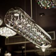 Kosiluz Lámpara de Techo cilíndrica LED 18W - Vidrio Cristal - Ino