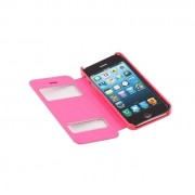 Apple iPhone 5S műbőr telefontok, hot-pink