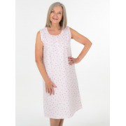 Ladies Sleeveless Summer Nightie - White 12