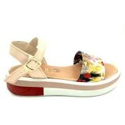 ESTRO Made in Italy Sandalo Fussbet Con Fascia In Tessuto - Rosso - - M-B76-19