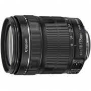 Lente Canon EF-S 18-135mm f/3.5-5.6 IS STM Lens 18 135 F 3.5 5.6 - Negro (Paquete masivo)