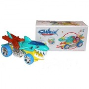 SHRIBOSSJI SHARK BATTERY OPERATED TOY FOR KIDS WITH LIGHT MUSIC AND BUMP/GO (MULTICOLOR)
