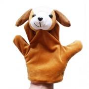Fullkang Cute Big Size Animal Glove Puppet Hand Dolls Plush Toy Baby Child Zoo Farm Animal Hand Glove Puppet Finger Sack Plush Toy Finger Puppets Dog