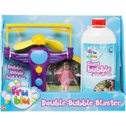 Set baloane de sapun Fru Blu - Blaster Double Bubble, cu solutie 500 ml