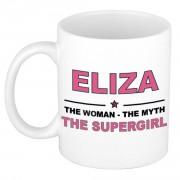 Bellatio Decorations Eliza The woman, The myth the supergirl bedankt cadeau mok/beker 300 ml keramiek