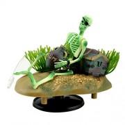 Saim Drunken Pirata esqueletos de acción en vivo para acuario con bono