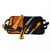 Комплект брадва Fiskars XXS_X5 + телескопичен трион S SW73 + универсален нож с вградено точило