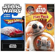 Star Wars BB8 Play Pack Fun & Team Hot Wheels Exclusive Car - Coloring Book, Crayons, Stickers Party Hot Wheel...