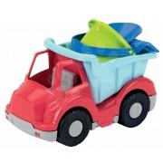 Écoiffier autobasculantă cu set pentru nisip 506-1 roşu-albastru