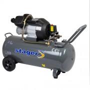 Compresor de aer Stager HM3100V, 230 V, 2.2 kW, 356 l/min, 8 bar, 100 l