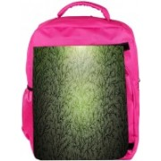 Snoogg Eco Friendly Canvas Small Grass Design Designer Backpack Rucksack School Travel Unisex Casual Canvas Bag Bookbag Satchel 5 L Backpack(Pink)